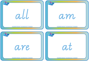 Dolch Words Flashcards completed using VIC Modern Cursive Font for Tutors and Occupational Therapists