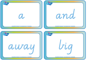 Dolch Words Flashcards completed using VIC, WA and NT handwriting, fantastic for Special Needs children.