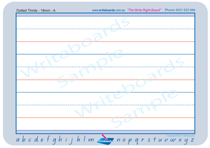 Special Needs QLD Modern Cursive Font Dotted Thirds Worksheets