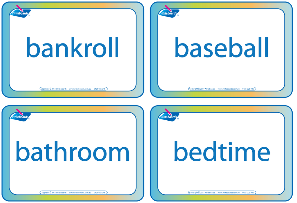 Writeboards Draw That Compound Word fun games pack