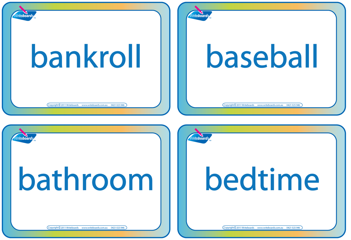 Draw That Compound Word educational word game for kids. Free with a Writeboards purchase.