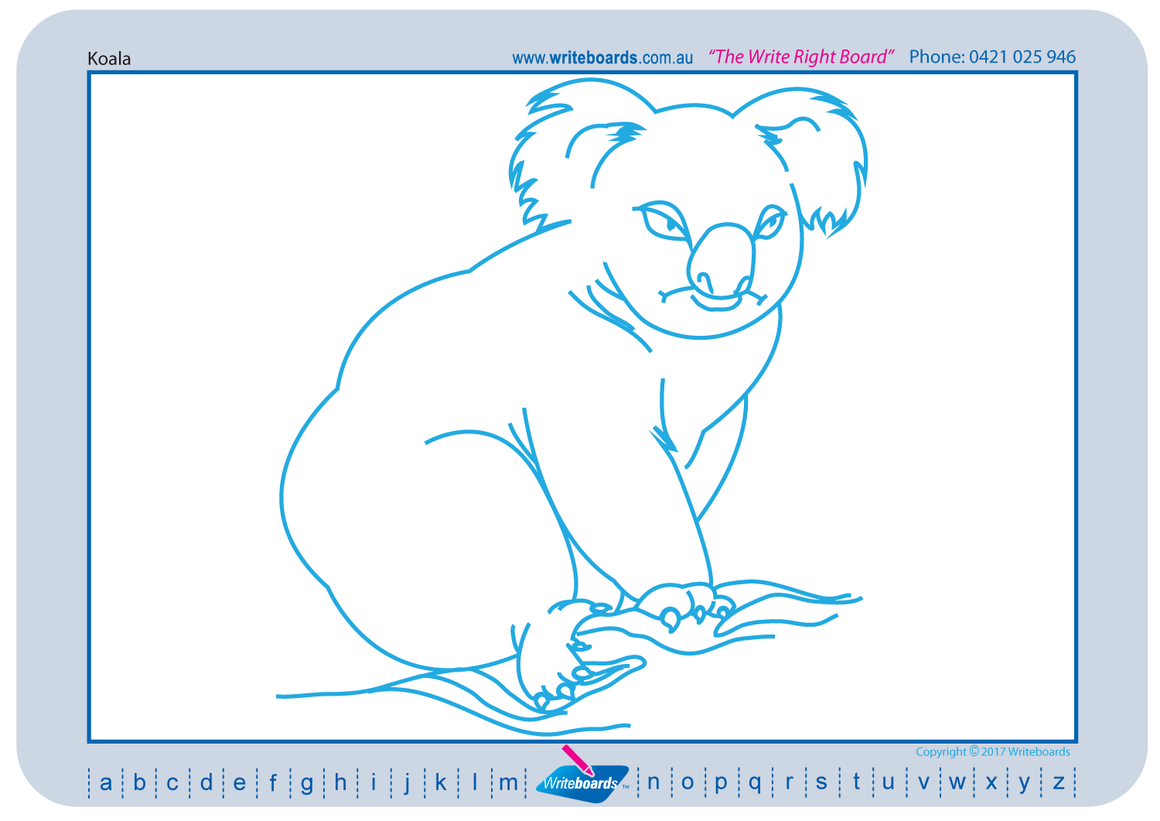 Learn to Draw Australian Animals using a grid created by Writeboards.