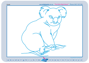 Teach your students to draw Australian animals, a picture for every alphabet letter.