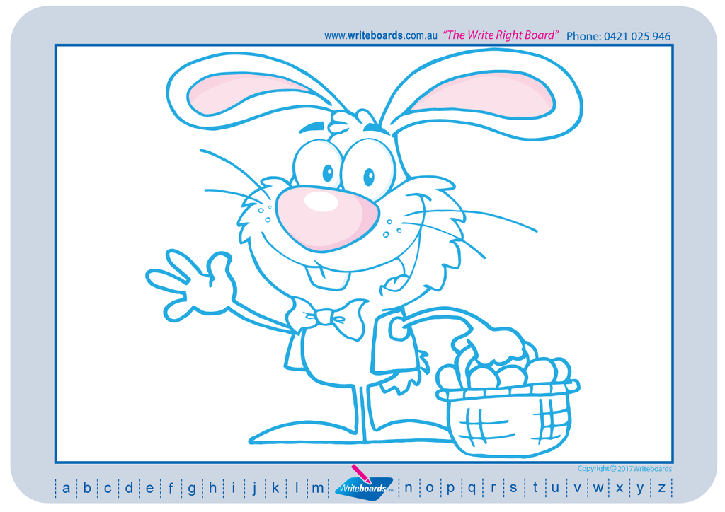 Learn to draw and colour worksheets. Easter pictures and images.