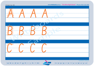 SA Modern Cursive Font alphabet worksheets. Family letter tracing worksheets for SA handwriting.
