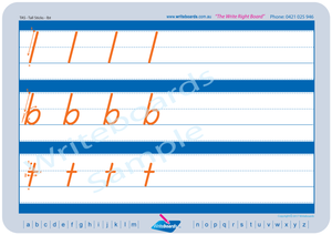 TAS Modern Cursive Font Family Letter Worksheets for Occupational Therapists and Tutors