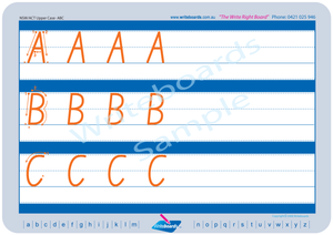 NSW Foundation Font family letter uppercase alphabet tracing worksheets