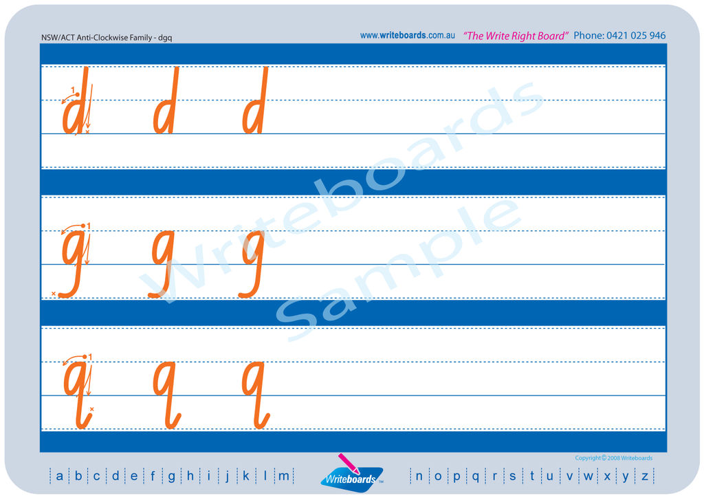 NSW Foundation Font Family Letter Worksheets. NSW Foundation Font lower case alphabet.