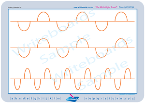 QLD Beginners Font Fluency Patterns worksheets , QBeginners Font Fluency Patterns worksheets