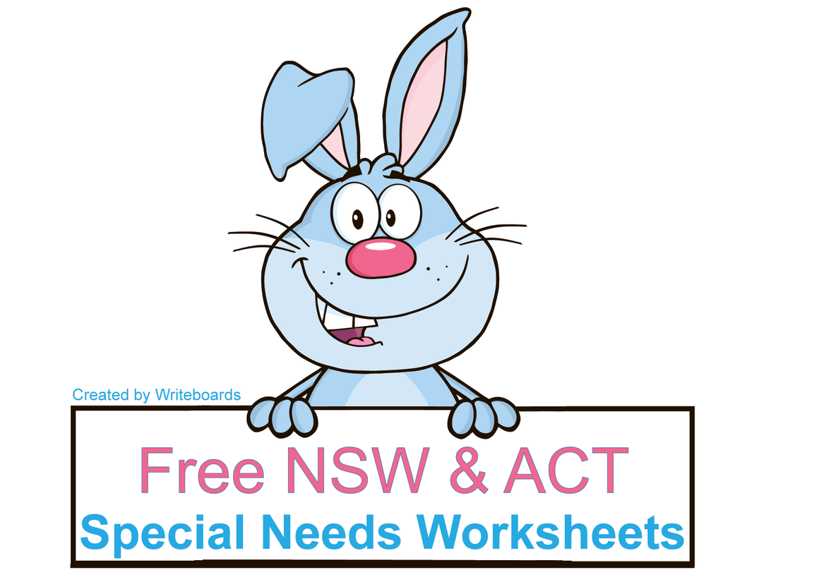 Free Special Needs Worksheets and resources for NSW Foundation Font. Free NSW Special needs resources.