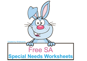 Free Special Needs Worksheets and resources for SA Modern Cursive Font. Free SA Special needs resources.