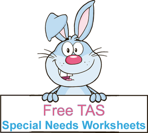 Free Special Needs Worksheets and resources for TAS Modern Cursive Font, Free TAS Special needs resources