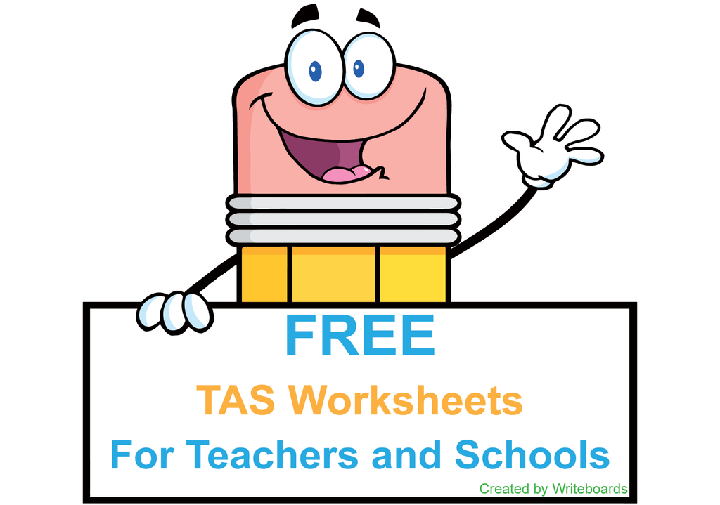 Free Downloadable TAS Beginner Font Handwriting Worksheets for Teachers and Schools. Free TAS Worksheets.