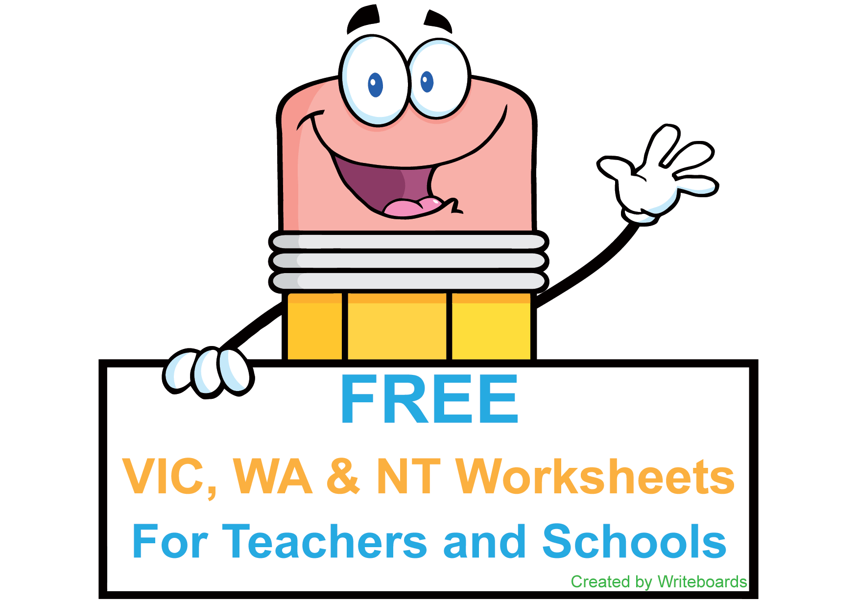 Free VIC Modern Cursive Font Handwriting Worksheets for Teachers & Sch