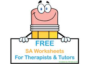 Free SA Modern Cursive Font Worksheets for Occupational Therapists, Free Worksheets for Tutors and Occupational Therapists