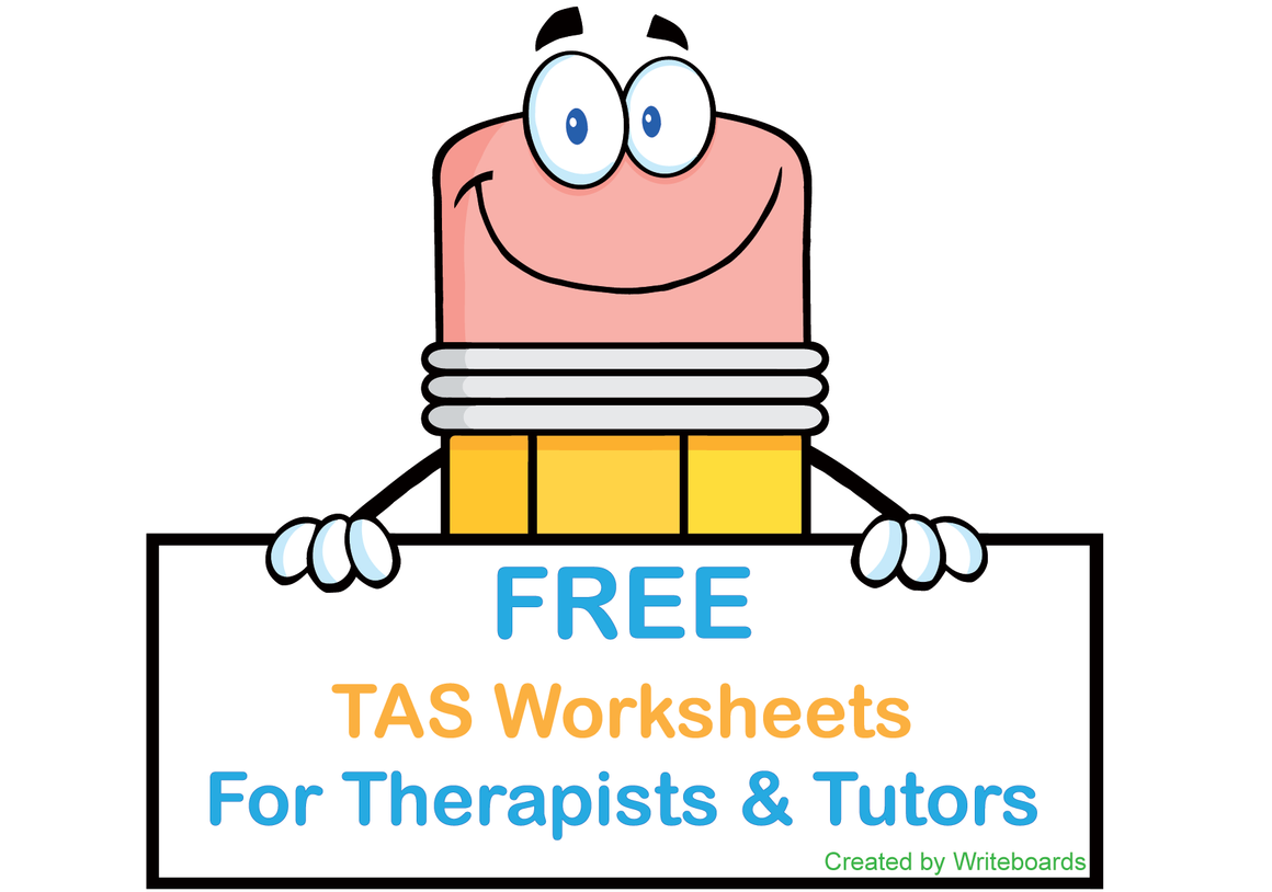 Free TAS Modern Cursive Font Worksheets for Occupational Therapists, Free TAS Worksheets for Tutors and Therapists
