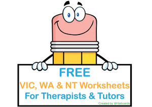 Free VIC Modern Cursive Font Worksheets for Occupational Therapists, Free Worksheets for Tutors and Occupational Therapists