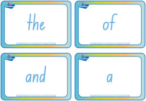 NSW Foundation Font Fry Sight Word Flashcards combined with Sign Language flashcards