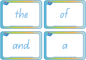 QLD Beginners Font Fry Sight Words Flashcards (also known as QBeginners Font)