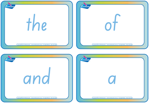 SA Modern Cursive Font Sight words and sign language flashcards for Childcare, SA Childcare Resources