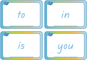 TAS Modern Cursive Font Sign Language and Sight Word Flashcards for Tutors and Occupational Therapists