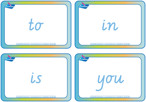 VIC Modern Cursive Font Sight words and sign language flashcards for Childcare, VIC Font Childcare Resources