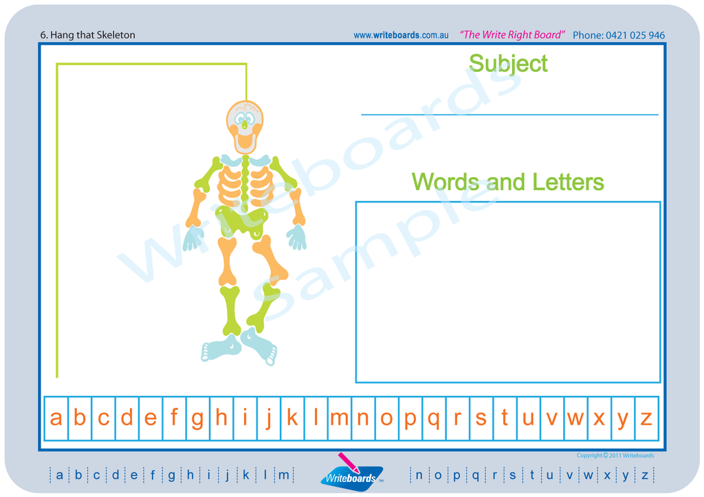 Writeboards Games Worksheets - Hang that man.