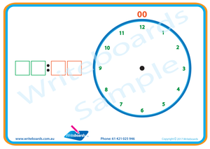 Learn to Tell the Time hourly worksheets and flashcards for Tutors and Occupational Therapists