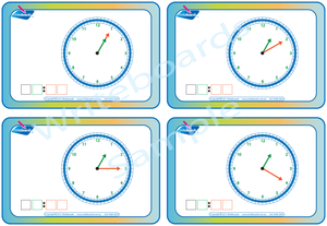 Childcare Resources, Learn to Tell the Time flashcards that teach the time in five minute increments
