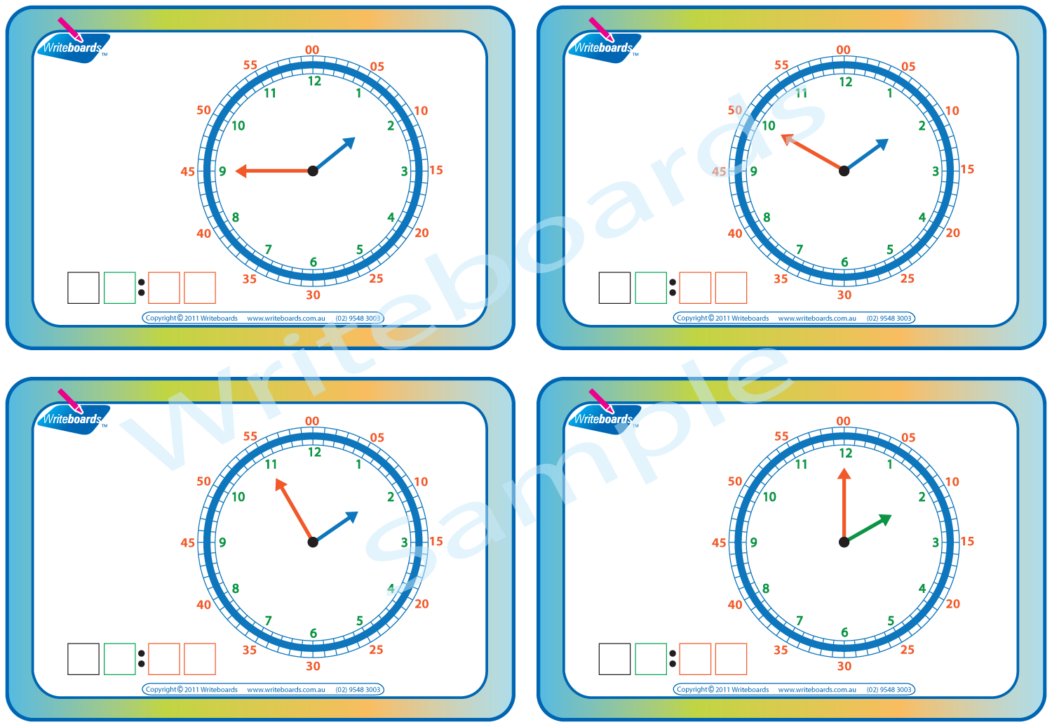 Learn to Tell the Time Worksheets - Stage 3 | Writeboards ...