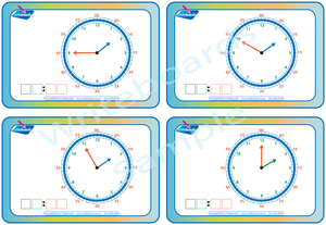 Special Needs learn to tell the time with the hour hand moving worksheets and flashcards
