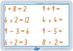TAS Modern Cursive Font Maths Worksheets for teachers, TAS Maths worksheets from one to twelve