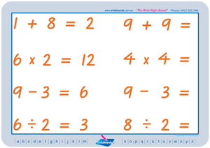VIC Modern Cursive Font Maths Worksheets for Tutors and Occupational Therapists, VIC and WA Tutor resources