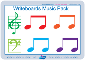 Music worksheets and flashcards for tutors and occupational therapists