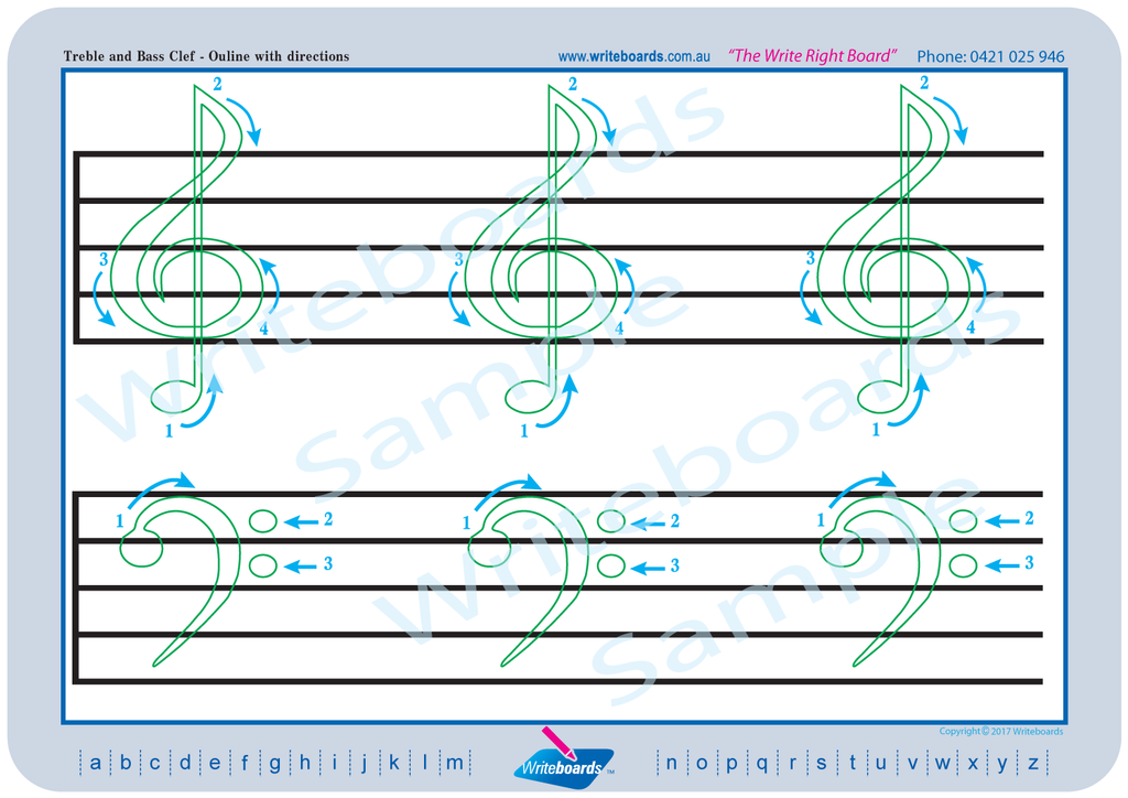 Writeboards Music Pack, Learn the Basics of Music, Learn to Read Music