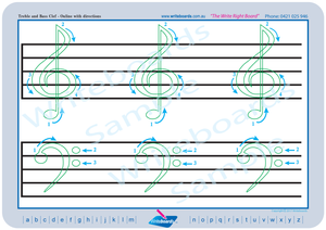 Teach Your Child How to Draw a Treble Clef using Directional Arrows