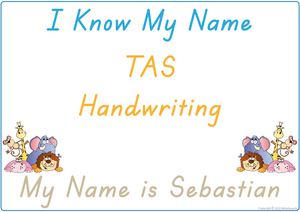 Teach Your Child How To Spell Their Name using a TAS Handwriting
