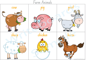 Farm Animal Busy Book Poster for NSW & ACT comes free with our Busy Book Pack