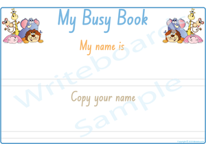 NSW & ACT Handwriting - Teach Your Child Their Name Busy Book
