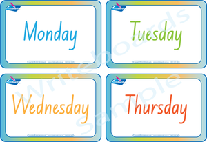 Days of the Week Busy Book Includes Free Flashcards for NSW & ACT Handwriting