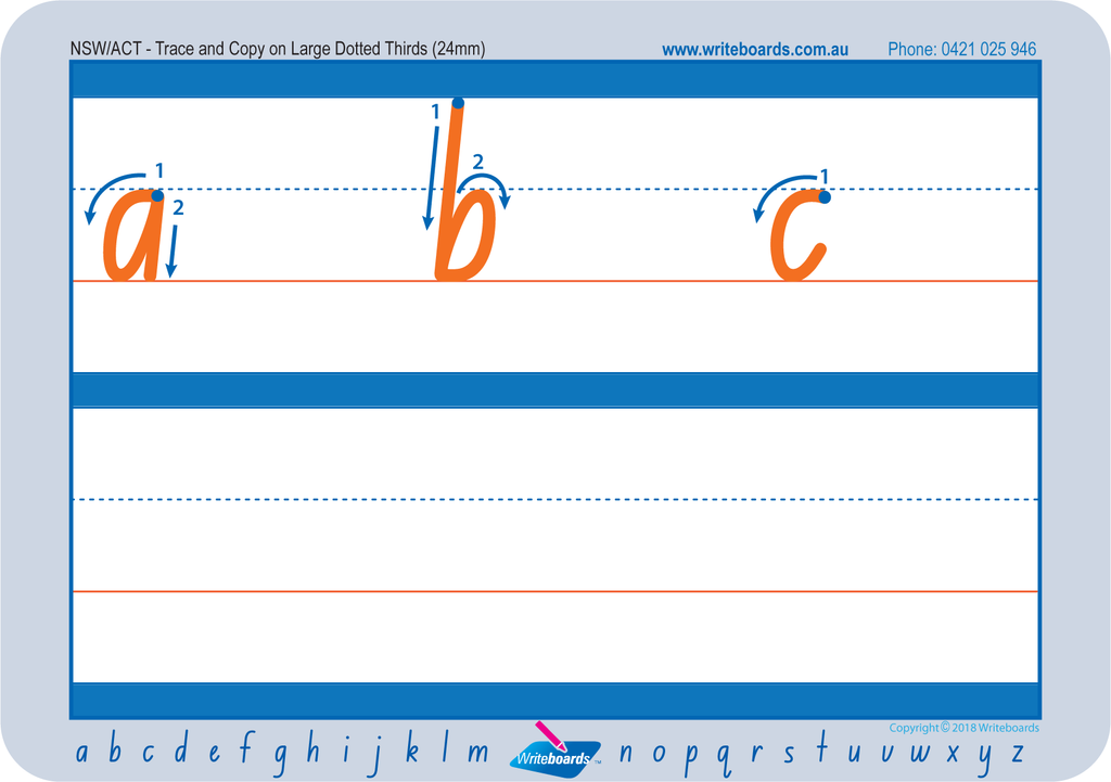 Free NSW Foundation Font handwriting worksheets for parents.