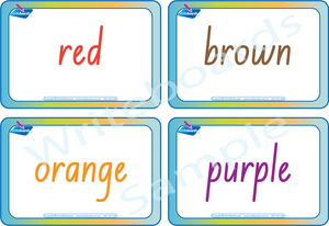 Colour Busy Book for NSW & ACT Handwriting comes with Free Colour Flashcards