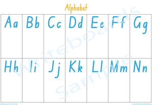 Busy Book Alphabet Pages for NSW & ACT Handwriting, You Child has to add the Pictures