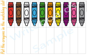 Busy Book Colour Pack where your child has to match the NSW & ACT crayon colours
