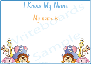 Teach Your Child to Spell Their Name Busy Book comes with a Free Poster