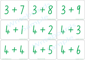 Arithmetic Bingo Game using NSW Foundation Font for Tutors and Therapists