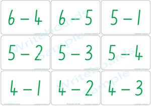 Educational Arithmetic Bingo Game using NSW Foundation Font handwriting, Fun game using NSW and ACT handwriting