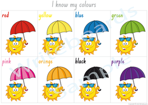 Busy Book Colours comes with a Free Poster for NSW & ACT Handwriting