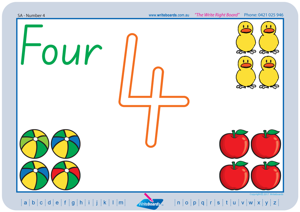 SA Modern Cursive Font Learn to draw numbers worksheets created by Writeboards
