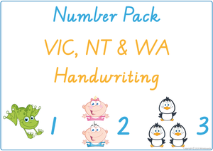 Learning My Numbers - VIC, WA & NT Handwriting